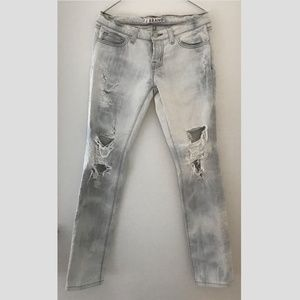 J Brand Ripped Acid Wash Jeans
